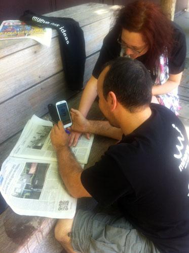 Jugadores interpretando una prueba en el Diario de Sevilla